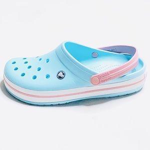 Crocs unisex blue/pink women's SZ:12 size:10 men's